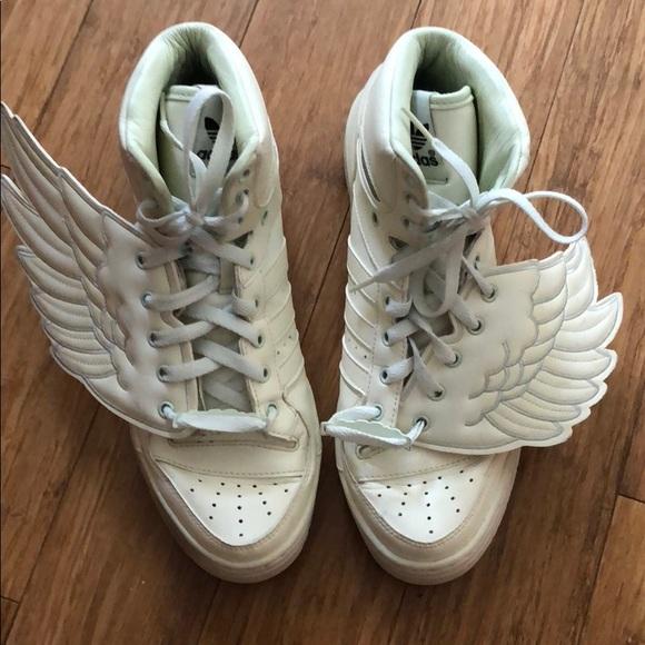 Jeremy Scott x Adidas Shoes - Jeremy Scott adidas original wings glowing  sneaker f573a85d9